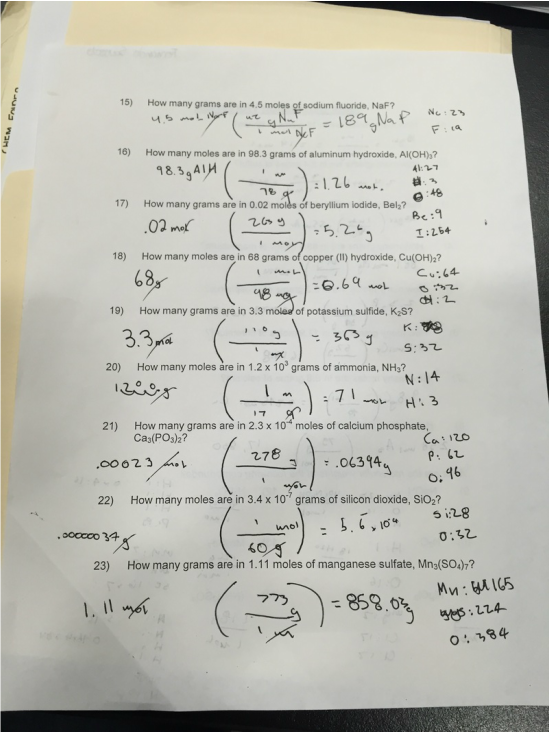 Worksheet Mole Calculation Worksheet mole calculation worksheet fernando saucedos blog for this we learned about converting grams into moles and was very useful because it more