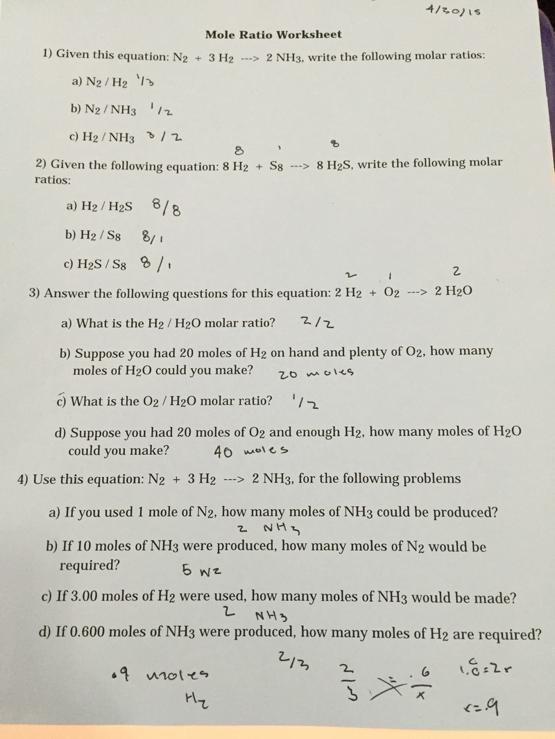 Uncategorized Mole Ratio Worksheet mole ratio worksheet ratios answers pogil due to worksheets for school beatlesblogcarnival